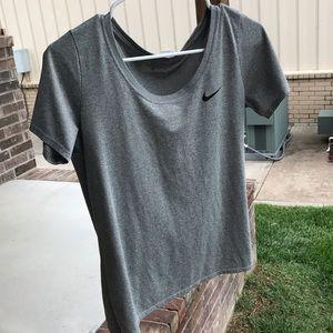 Grey Nike shirt